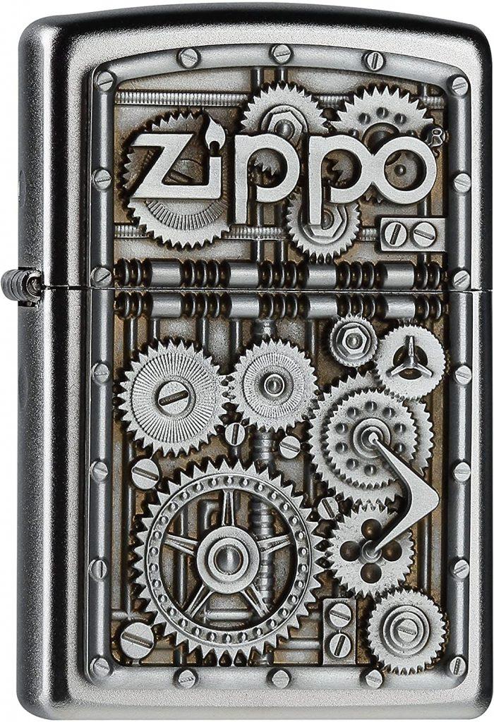 Zippo Gear Wheels Mechero, Metal, Satin Chrome