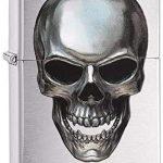 Zippo Metal Skull Mechero de Gasolina, latón, Acero,calavera calavera