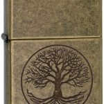 Zippo Tree of Life Encendedor de Bolsillo, Unisex Adulto